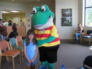 Frog during Pediatrics, Reach Out and Read Program